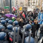 Blockupy protests at the European Central Bank in Frankfurt