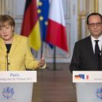 German Chancellor Angela Merkel in Paris