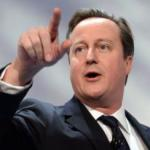 British Prime Miniter David Cameron delivers his key-note speech at the CBI business conference in London