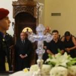 Ο Προεδρεύων της Δημοκρατίας, Πρόεδρος της Βουλής των Αντιπροσώπων, κ. Γιαννάκης Ομήρου στην κηδεία του πρώην Υπουργού Άμυνας Κώστα Παπακώστα, Ιερός Ναός της του Θεού Σοφίας, Στρόβολος 23 Σεπτεμβρίου 2015.
