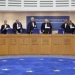 epa03372252 Judges of European Court of Human Rights arrive for the hearing against the Ukrainian Governement and Yulia Tymoshenko, in Strasbourg, France, 28 August 2012.  EPA/CHRISTOPHE KARABA