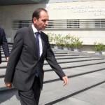 Την ομόφωνη απόφαση για παύση του Ρίκκου Ερωτοκρίτου από τα καθήκοντά του ως Βοηθού Γενικού Εισαγγελέα, λόγω ανάρμοστης συμπεριφοράς, ανακοίνωσε πριν από λίγο ο Πρόεδρος του Συμβουλίου του Ανωτάτου Δικαστηρίου Μύρων Νικολάτος ,Λευκωσία 24 Σεπτεμβρίου 2015.ΚΥΠΕ/ΚΑΤΙΑ ΧΡΙΣΤΟΔΟΥΛΟΥ