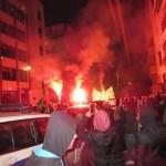 Εκδήλωση διαμαρτυρίας οπαδών της Ομόνοιας έξω από το ΑΚΕΛ