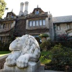 A view of the Playboy Mansion in Los Angeles,California February 10, 2011.   REUTERS/Fred Prouser  (UNITED STATES - Tags: ENTERTAINMENT SOCIETY)