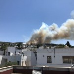 Plumes of smoke from a wildfire are seen near a residential area in the holiday resort of Bodrum, Turkey July 31, 2021 in this picture obtained from social media. Sevgin Ozkan via REUTERS  THIS IMAGE HAS BEEN SUPPLIED BY A THIRD PARTY. MANDATORY CREDIT. NO RESALES. NO ARCHIVES.